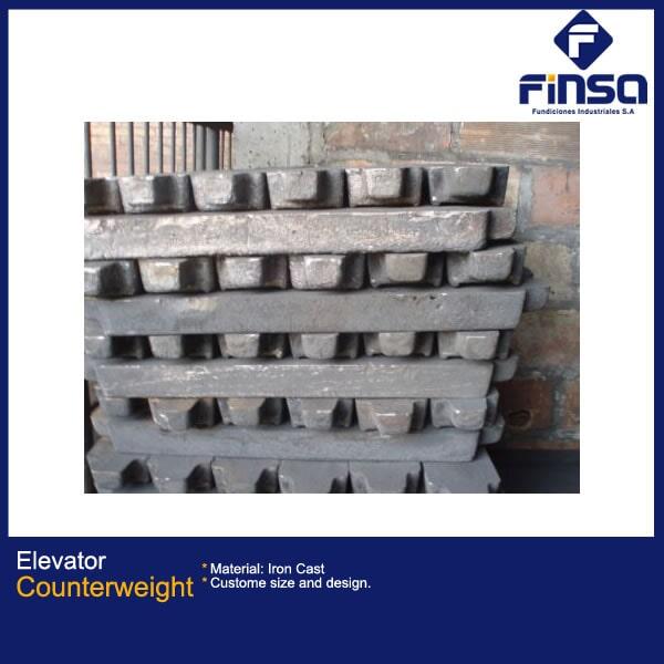 Fundiciones Industriales S.A.S - Elevator counterweight