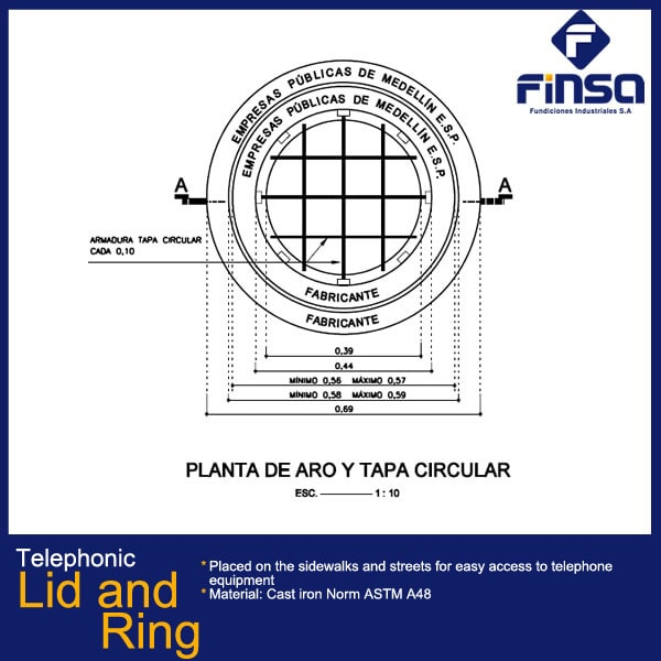Fundiciones Industriales S.A.S - Telephonic Lid and Ring