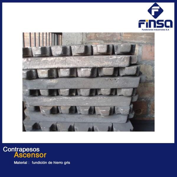 Fundiciones Industriales S.A.S - Contrapesos para Ascensor