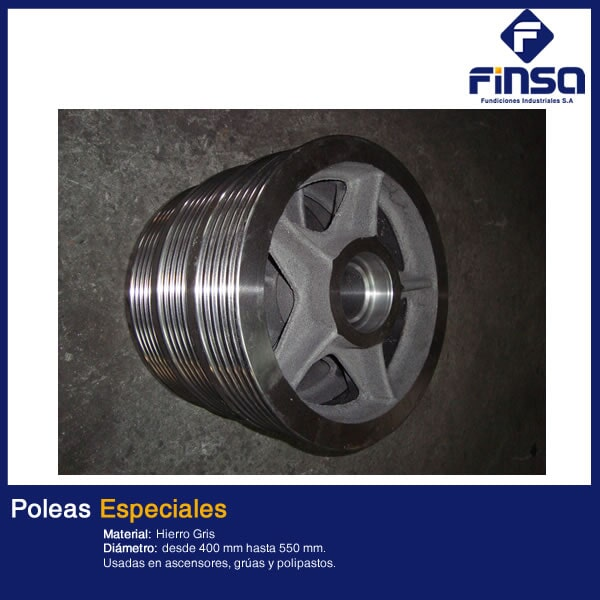 Fundiciones Industriales S.A.S - Poleas Especiales