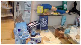 calze terapeutiche, deumidificatori, apparecchi per aerosol