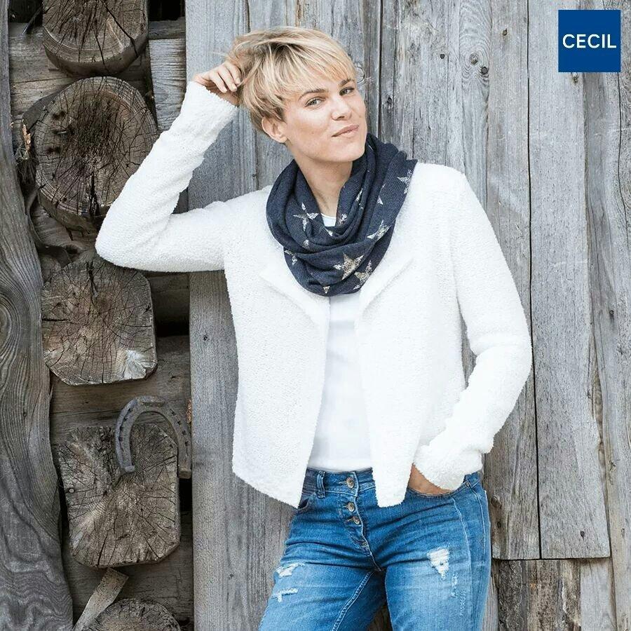 targhetta della marca Cecil attaccata ai jeans