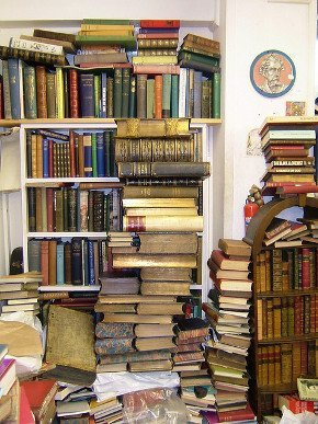 A room in the Voltaire & Rousseau bookstore