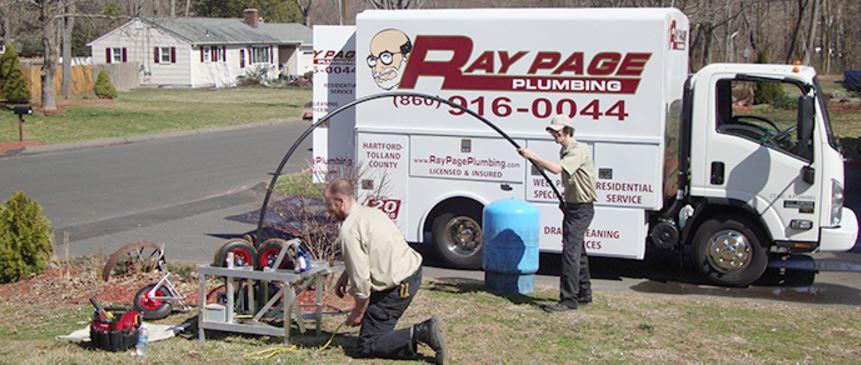 Plumber repairing an hot water heater