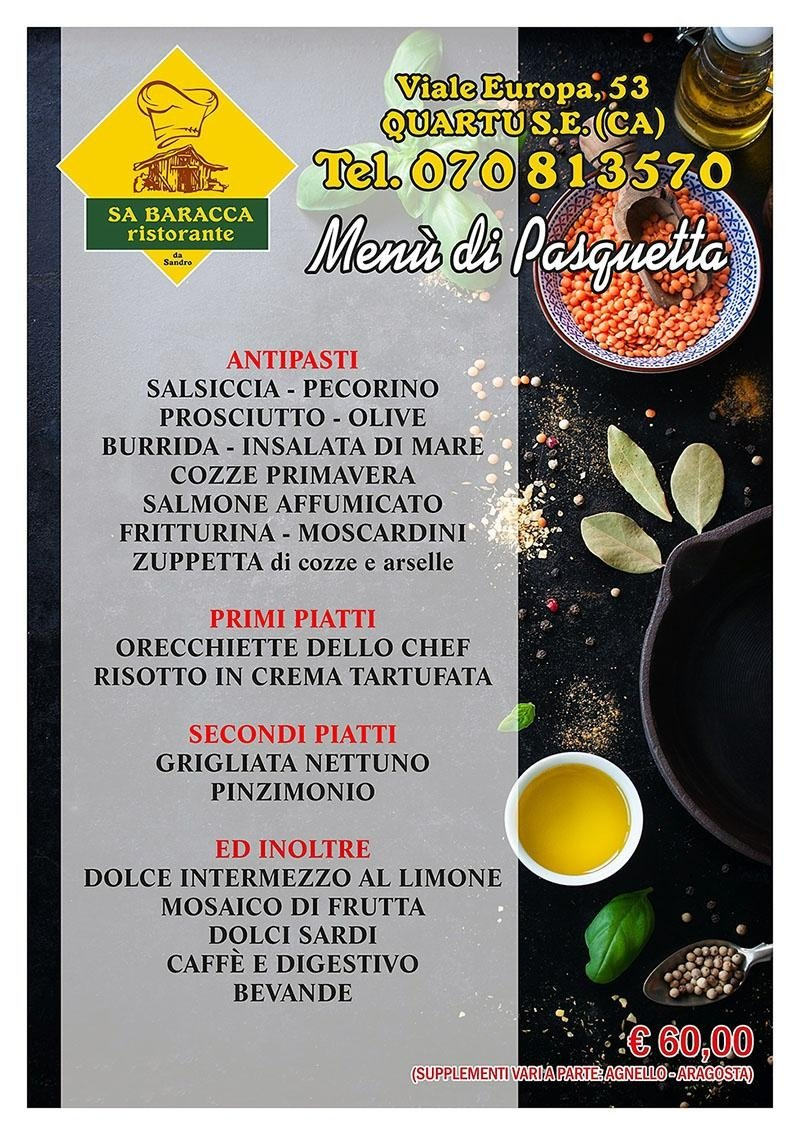 Menù Pasquetta