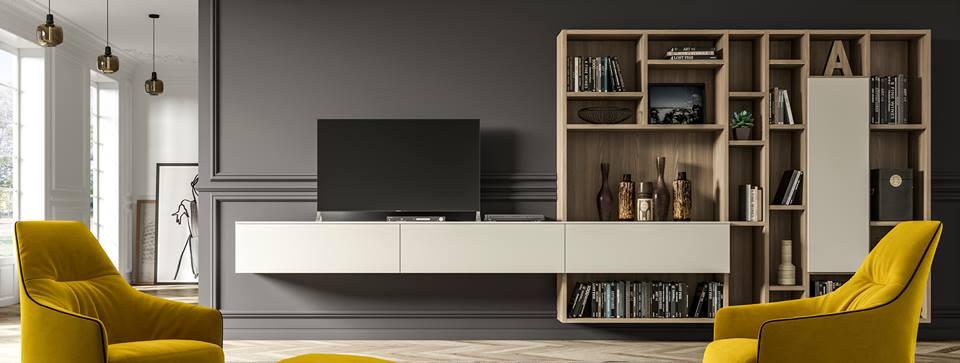 parete attrezzata con TV