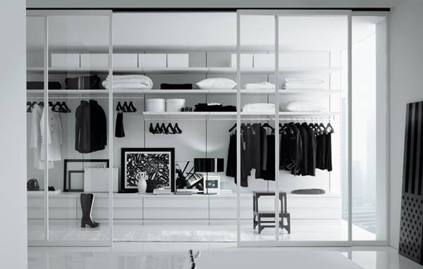 una cabina armadio