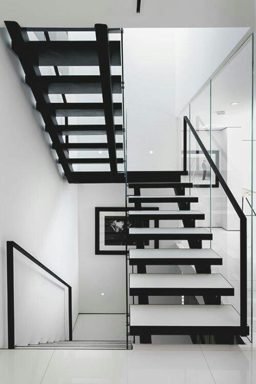 Scale bianche e nere