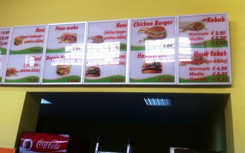 stampa menu