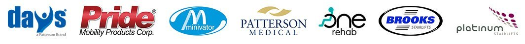 days pride minivator patterson medical one rehab brooks platinum logos