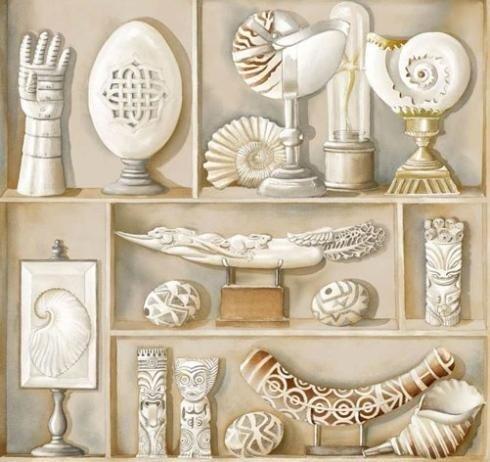 Cabinet-de-curisites beige