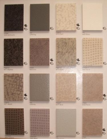 campioni in pvc sfumature del grigio