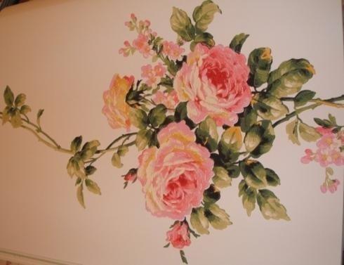carta da parati con rose