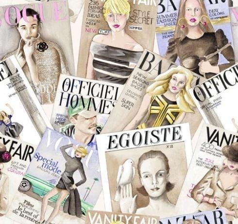Tessuto Vogue a colori