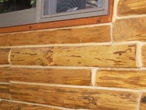 beautiful log work