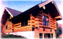 huge log home