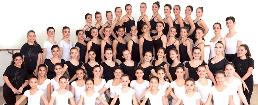 Gli alunni di balletto classico
