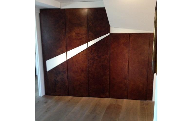 armadio metallo legno