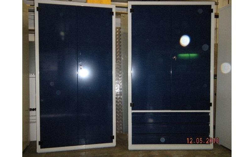 armadio metallico blu