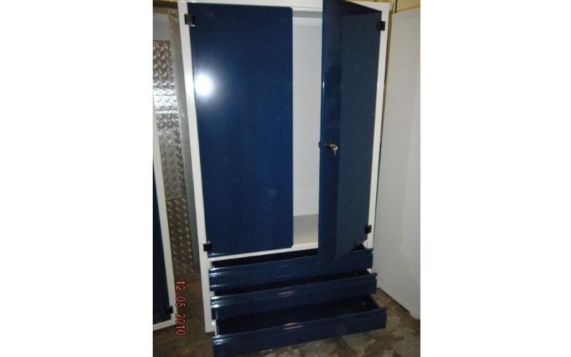 armadietto metallico blu