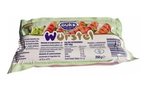250g pork sausage, label