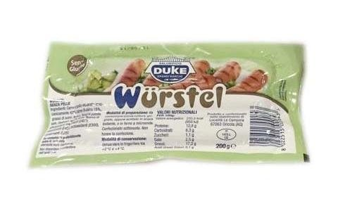 200g mixed sausage, label