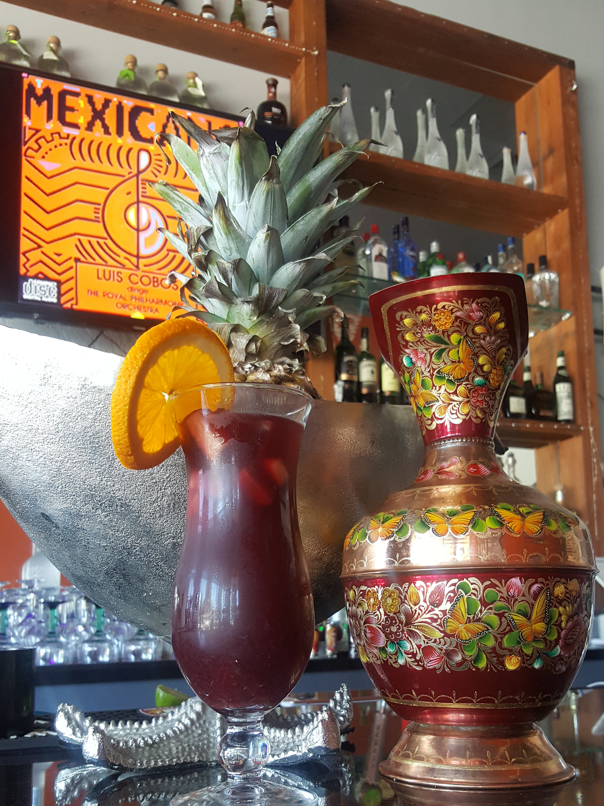 Refreshing Sangria a la casa - Frida Colibries - Redwood City