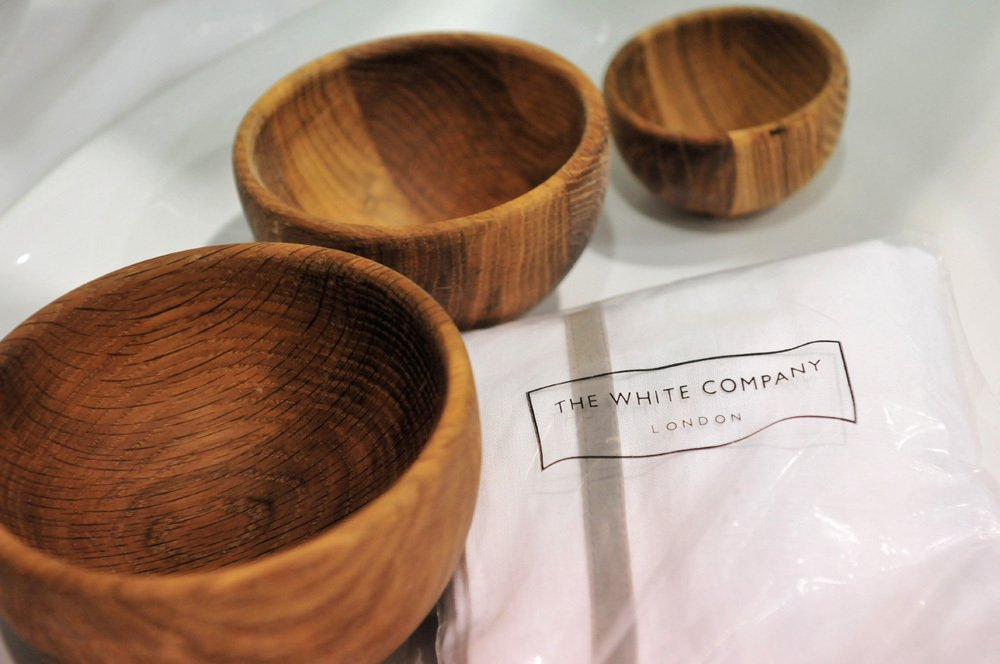 Wooden bowls at our gifts department