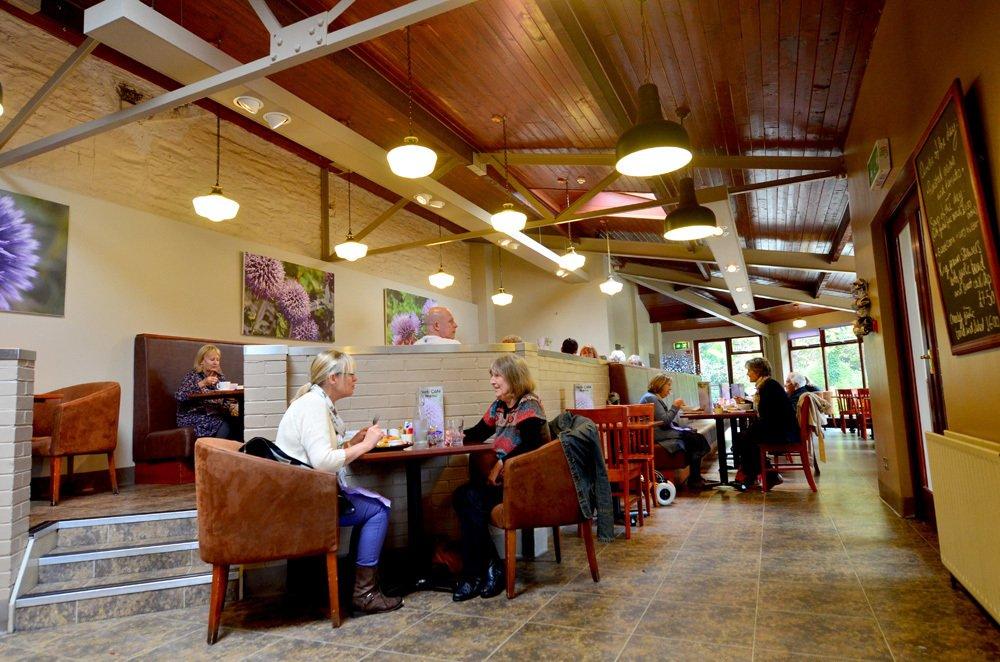 People enjoying lunch inside the Neb Cafe