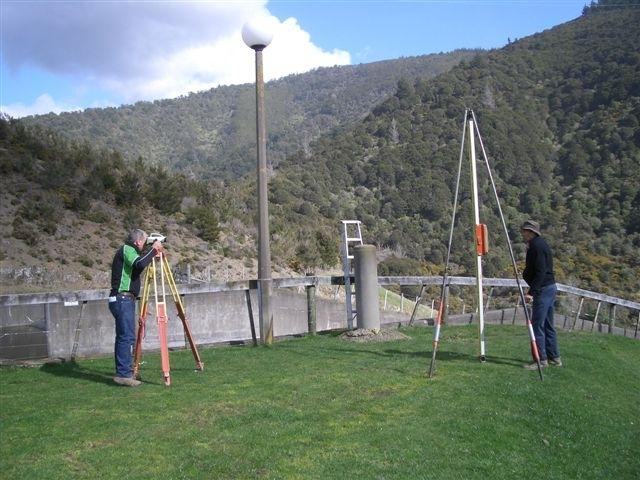 Craig precise levelling at Maitai dam