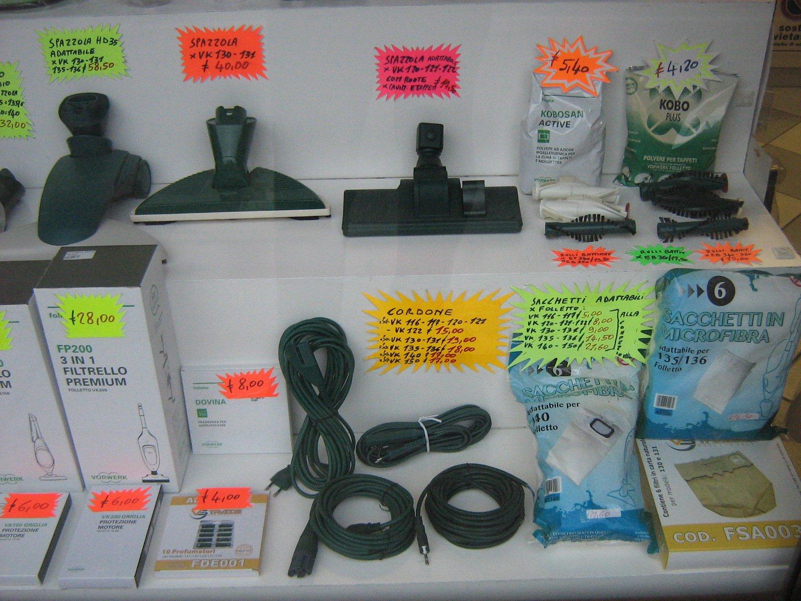 accessori per aspirapolveri