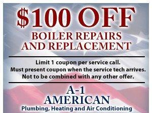 $100 off boiler repairs