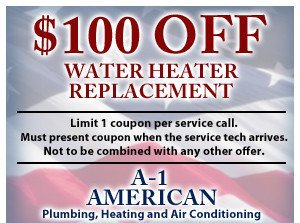 $100 off water heater replacement