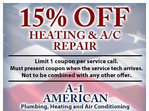15% off heating and a/c