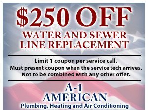 $250 off water and sewer line replacement