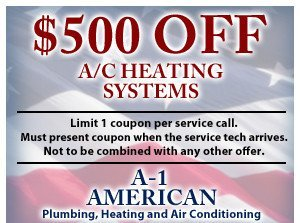 $500 off a/c heating systems
