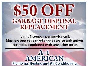 $50 off garbage disposal coupon