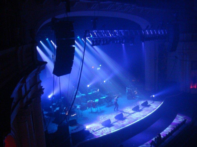 blue coloured lighting