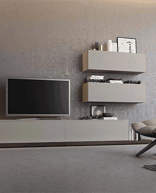 soggiorno moderno con televisione