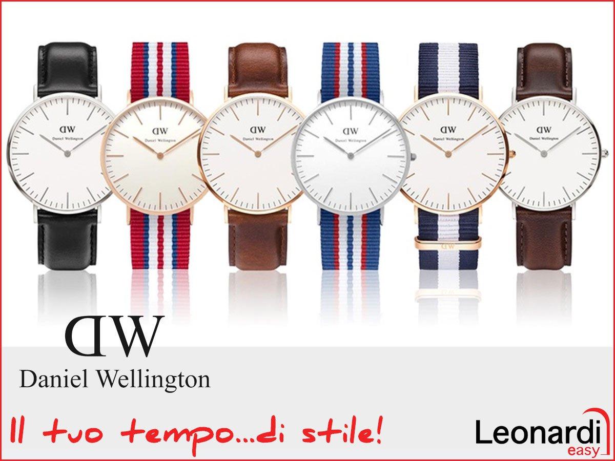 una serie di orologi e sotto la scritta Daniel Wellington