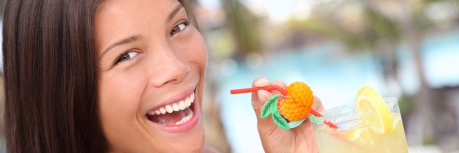 Woman happy after visiting our dentists in Honolulu, HI