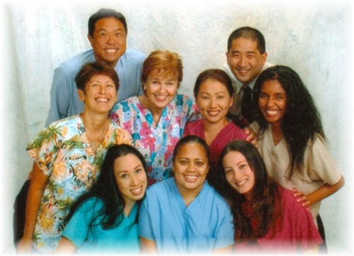 Member of the dentist office team in Honolulu, HI