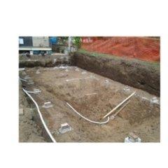 Fase costruzione piscina