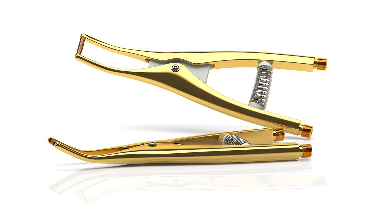Pinza per saldatura ortodontica