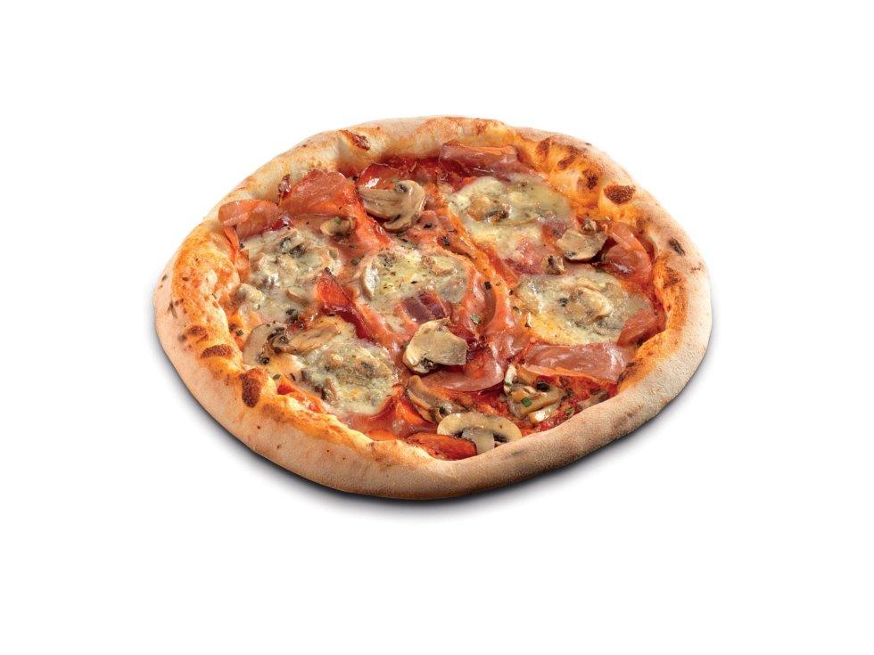 Pizza Speck,Brie e Funghi