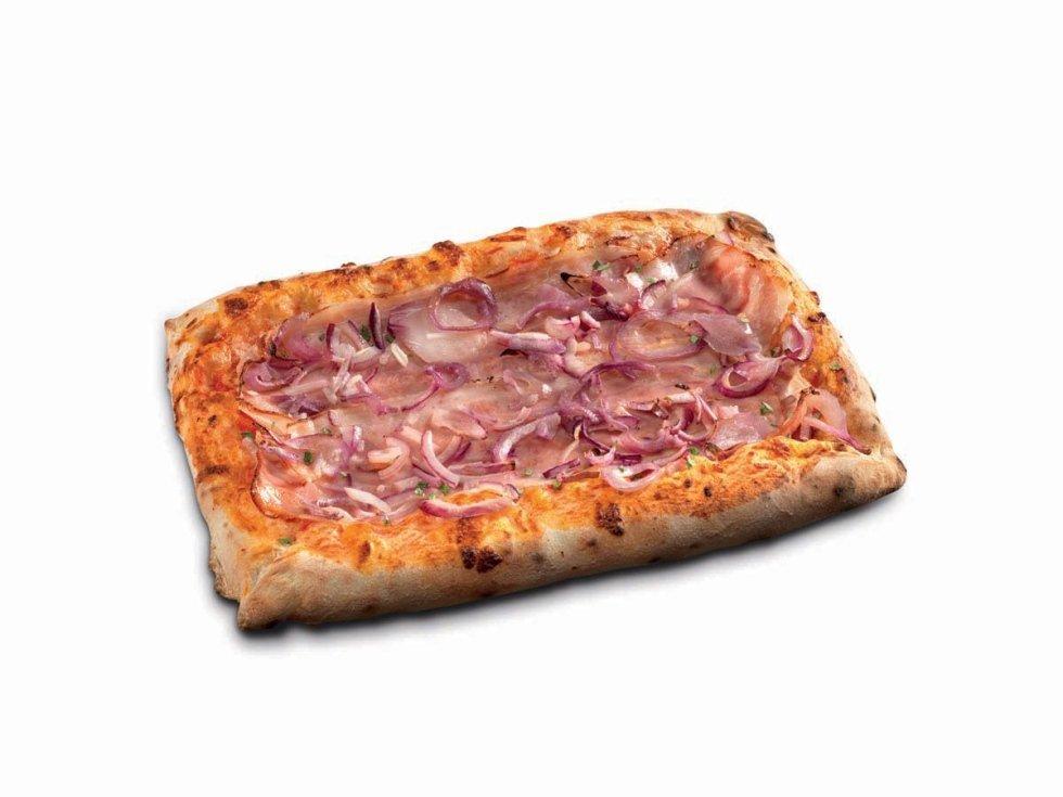 Pizza Rettangolare Pancetta e Cipolla