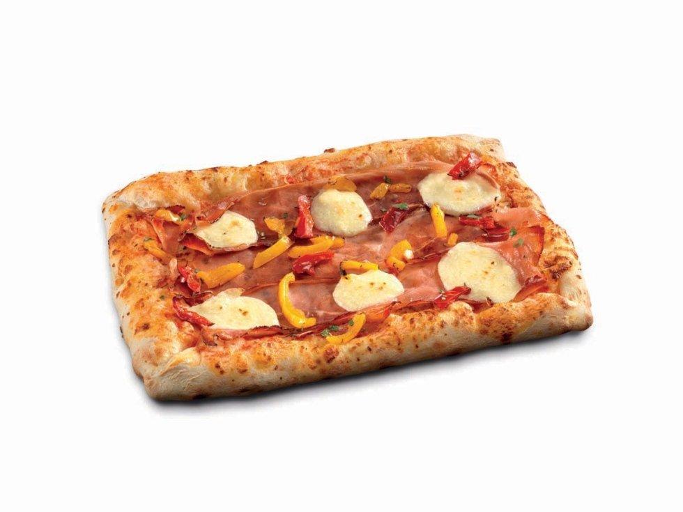 Pizza Rettangolare Speck Brie e Pepe
