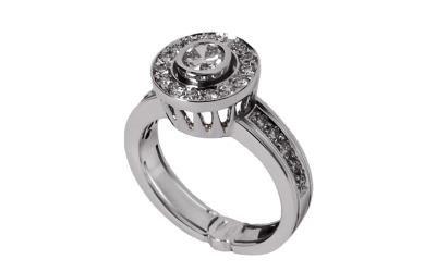 anello oro bianco diamanti cevenini bologna