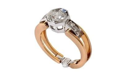 anello con diamanti cevenini bologna