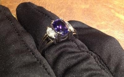 anello oro bianco diamanti tanzanite bologna